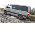 Sprinter 4x4 - It is an lightweight permanent 4-wheel-drive with mechanical differential locks (front axle/rear axle and  longitudinal lock) and gear reduction (i=1,42 or 2,85). Also available with mechanical power take-off (only with manual gearbox).
