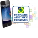 Mobile app Euromaster truck assistance - From your smartphone or pad, driver or fleet manager can make a request and following in real time a truck tire assistance.  Free app for a service available 24hours a day, 7 days on 7.
