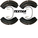 LINED BRAKE SHOES KIT + FITTING KIT - Lined brake shoes axel kit with fitting kit.