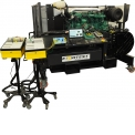 MT-MOTEUR-D8 - The MT-MOTEUR-D8 engine bench is an educational support for the study of one of the most popular heavy-duty diesel engines, the TAD870, a six-cylinder in-line version of the VOLVO manufacturer.