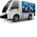 Multi-function Compact Utility Electric Truck Sevic V500 - Focused on the last-mile of urban logistics. You can choose flatbed, pick up or cargo box as an option. The Sevic V500 can be adapted to your needs.