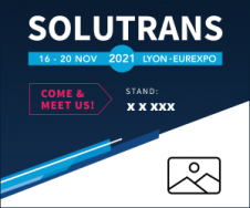 Customized banner of the SOLUTRANS exhibition
