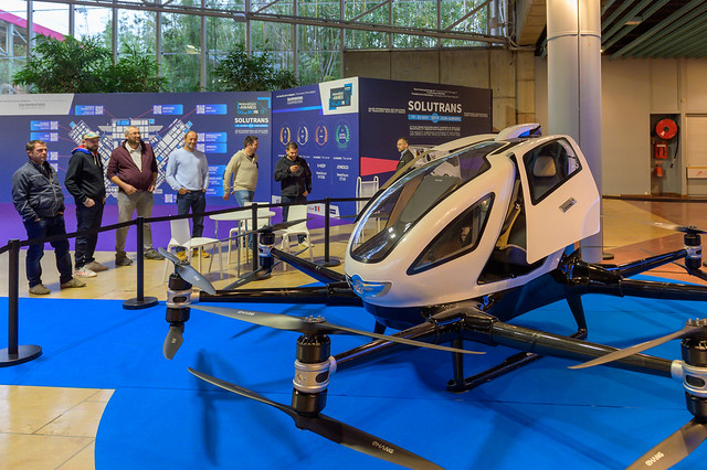 Drone at the SOLUTRANS exhibition