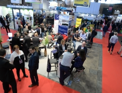 Aisles of the SOLUTRANS exhibition