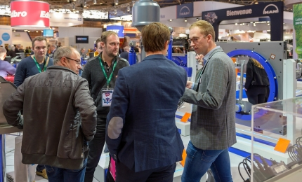 Visitors on a stand at SOLUTRANS 2019